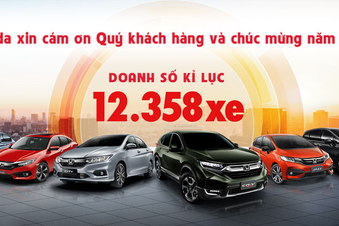Ấn tượng 5 năm liên tiếp Honda Việt Nam tạo nên mốc kỷ lục về doanh số bán theo năm