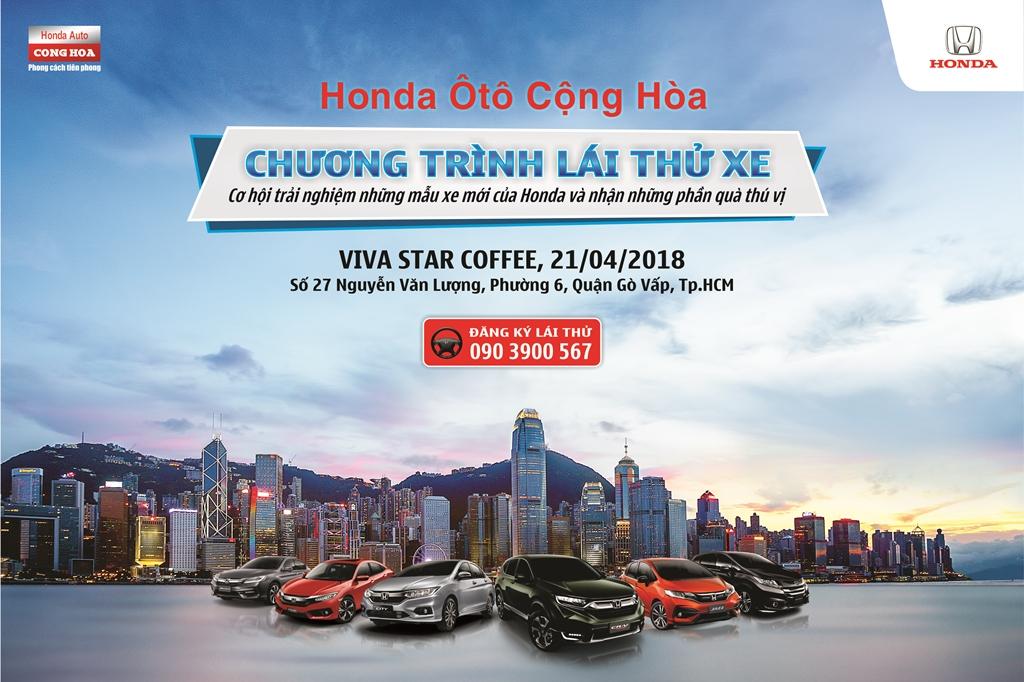 Chương trình LÁI THỬ XE tháng 04/2018 tại Gò Vấp